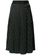 Twin-set Pleated Polka Dot Skirt - Black