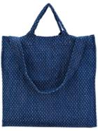 Sunnei - Textured Tote - Men - Cotton - One Size, Blue, Cotton