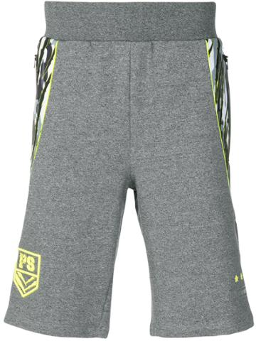 Plein Sport Side Stripe Track Shorts - Grey