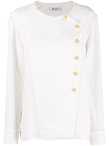 Yves Saint Laurent Pre-owned 1970s Buttoned Top - White