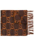 Gucci Gg Pattern Fringed Scarf - Unavailable