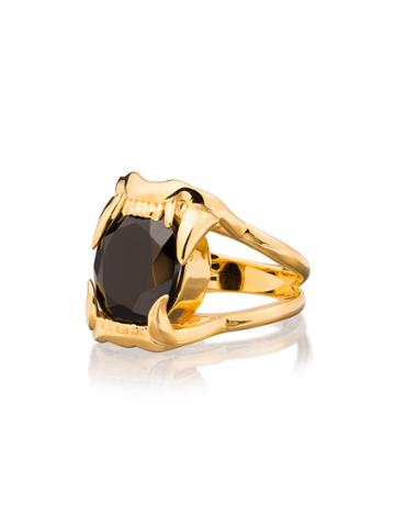 Maria Nilsdotter Gold-plated Silver Jaw Stone Spinel Ring - Metallic