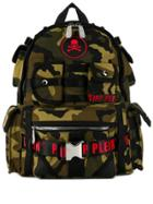 Philipp Plein Camouflage Backpack - Green