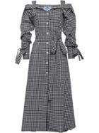Prada Gingham Chemisier Dress - Black