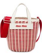 Miu Miu Woven Bucket Bag - Red