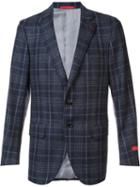 Isaia Plaid Check Blazer