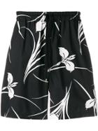No21 Floral Print Shorts - Black
