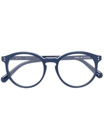 Stella Mccartney - Rounded Glasses - Women - Acetate - 50, Blue, Acetate