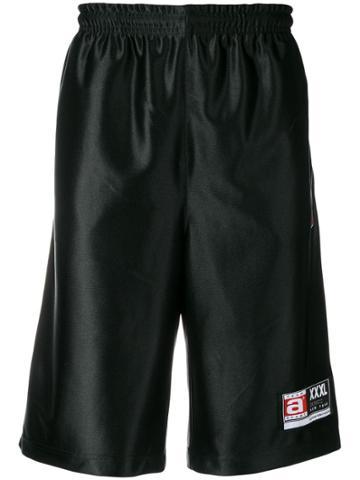 Alexander Wang High Shine Jersey Shorts - Black