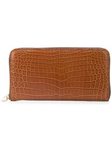 Eyefunny Zip Around Wallet - Brown