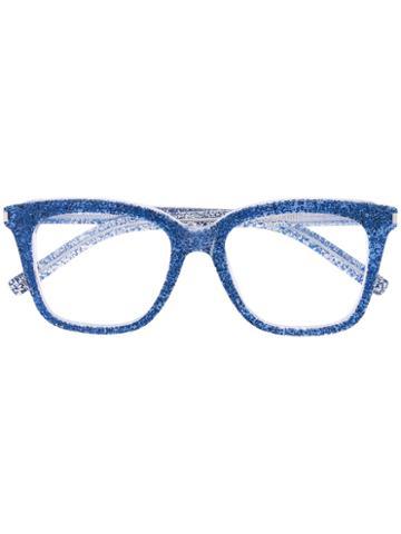 Saint Laurent - Glitter Frame Glasses - Unisex - Acetate - One Size, Blue, Acetate