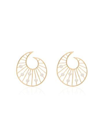 Apples & Figs 24kt Gold Vermeil Venus Shell Earrings