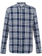 Officine Generale Plaid Buttondown Shirt - Blue