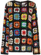 Ashish Sequin-embellished Crochet Knit Jumper - Multicolour