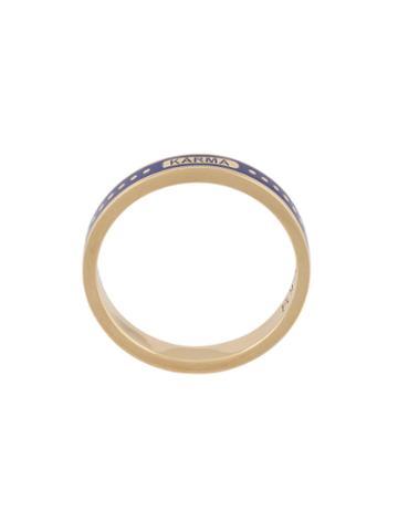 Foundrae Karma Thin Ring, Women's, Size: 7, Metallic