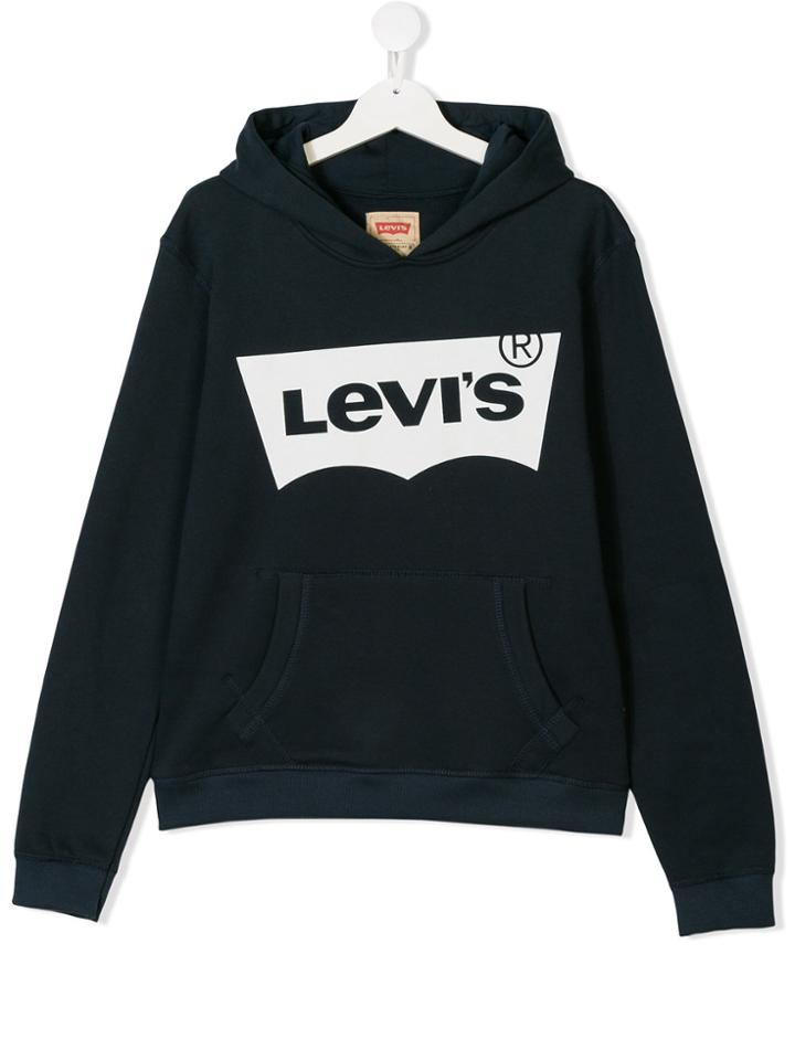Levi's Kids Teen Logo Print Hoodie - Blue