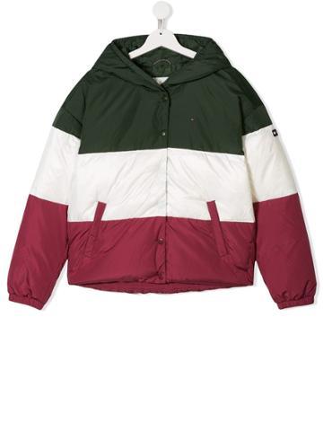Tommy Hilfiger Junior Colour Block Padded Coat - Green