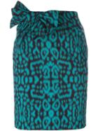 Lanvin Leopard Print Skirt