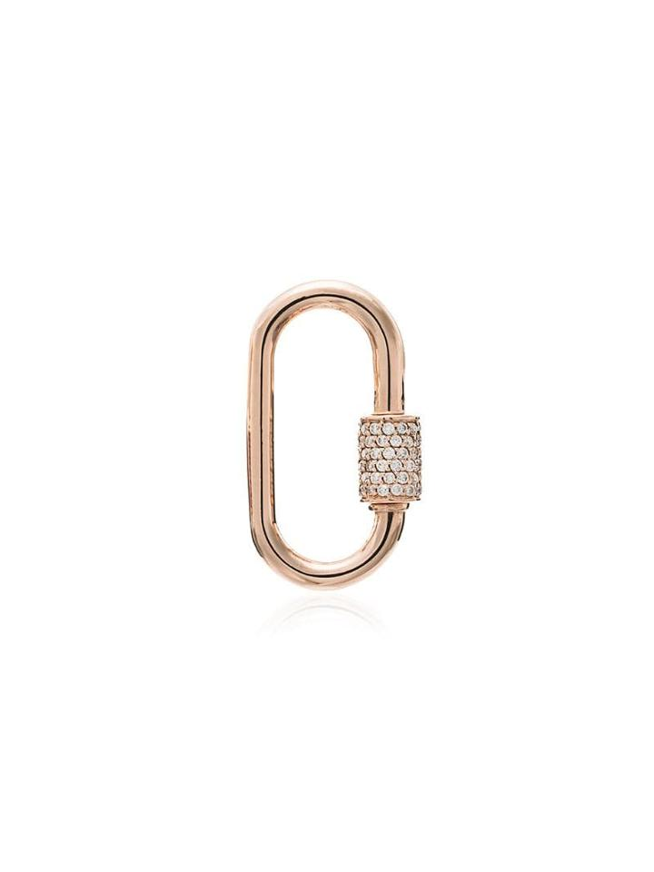 Marla Aaron 14kt Rose Gold Medium Lock Charm - Metallic
