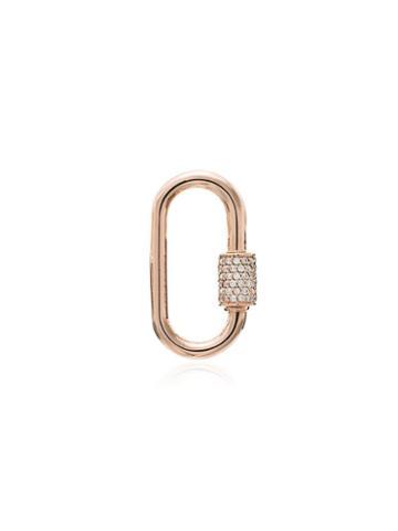 Marla Aaron 14kt Rose Gold Medium Lock Charm - Metallic