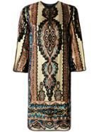 Etro Metallic Printed Shift Dress