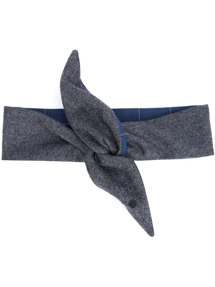 Maison Michel Knot Headband - Grey