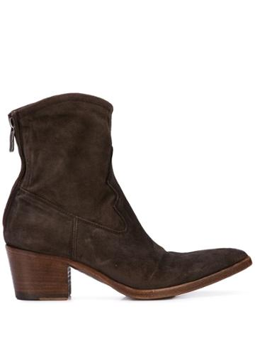Alberto Fasciani Pointed Boots - Brown