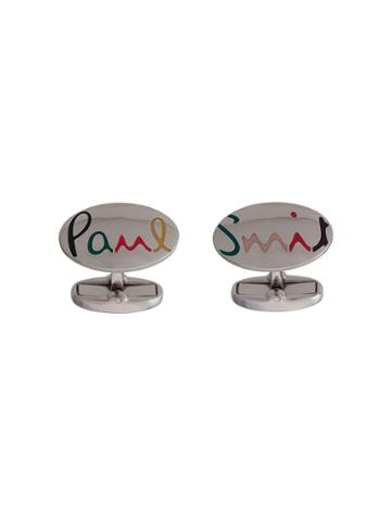 Paul Smith Logo Cufflinks - Silver