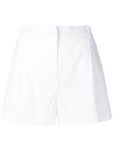 Nº21 Pleated Short Shorts - White