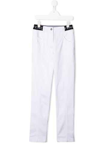 Givenchy Kids Teen Straight-leg Trousers - White