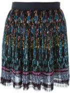 Etro Pleated Floral Print Pleated Skirt