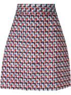 Msgm Patterned A-line Skirt