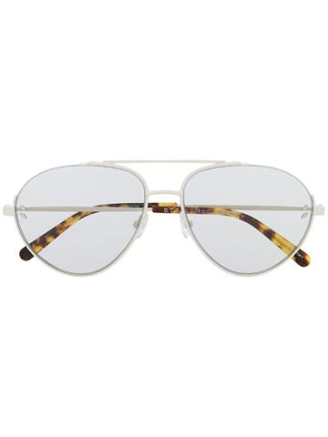 Stella Mccartney Eyewear Aviator Frame Sunglasses - White