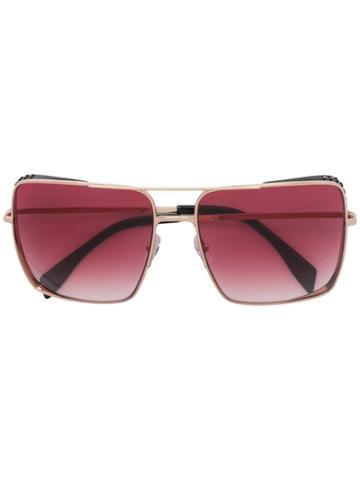 Moschino Eyewear Oversized Square Sunglasses - Gold