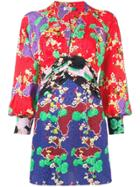 Rixo London Alanna Cherry Blossom Dress - Red
