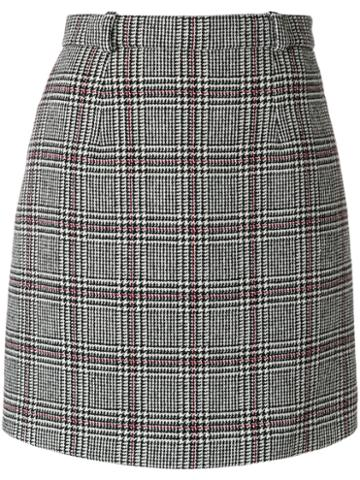 Carven - Check Mini Skirt - Women - Polyamide/acetate/viscose/other Fibers - 34, Grey, Polyamide/acetate/viscose/other Fibers