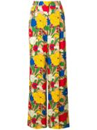 Vivetta Floral Print Trousers - Yellow & Orange