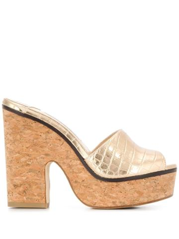 Jimmy Choo Deedee 125mm Platform Sandals - Gold