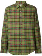 Aspesi Plaid Button Down Shirt - Green