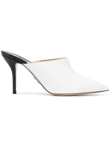 Paul Andrew Pointed Mules - White