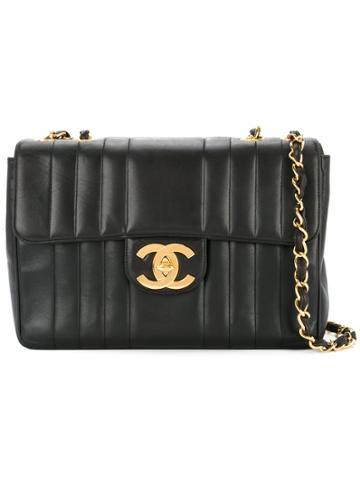 Chanel Vintage Mademoiselle Stitch Shoulder Bag - Black