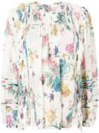 Zimmermann Floral Blouse - White