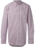 Canali Gingham Print Shirt