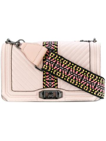 Rebecca Minkoff - Quilted Aztec Print Crossbody Bag - Women - Calf Leather/polyester - One Size, Pink/purple, Calf Leather/polyester