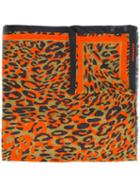 Dsquared2 Leopard Print Scarf, Men's, Red, Modal