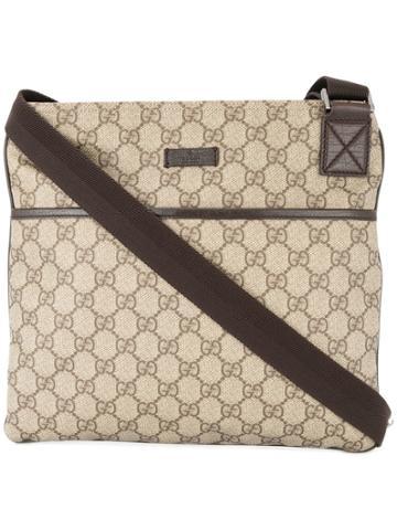 Gucci Vintage Gg Pattern Crossbody Shoulder Bag - Nude & Neutrals