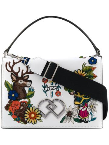 Dsquared2 - Embroidered Dd Crossbody Bag - Women - Leather - One Size, White, Leather