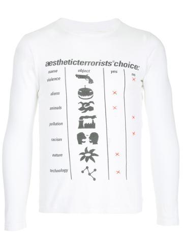 Walter Van Beirendonck Vintage Aesthetic Terrorists Choice T-shirt -