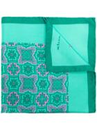 Kiton Floral Print Scarf - Green