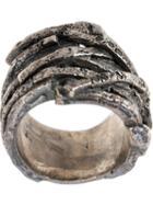 Tobias Wistisen Criss Cross Ring, Adult Unisex, Size: 52, Metallic